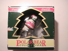 Coca Cola Polar Bear Collection Christmas Ornament 1995 Polar Bear Ice Skating