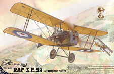 RAF SE 5a W / HISPANO SUIZA MOTORE (RFC & RAF ACES MKGS) 1/48 Roden