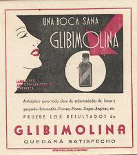 Papel secante de Glibimolina, antiséptico para enfermedades de boca y garganta.