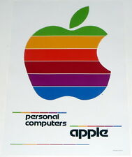 APPLE COMPUTERS * white poster * 17/11 inches MINT Steve Jobs