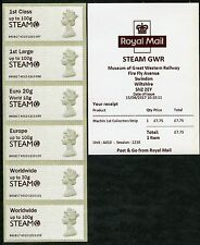 NEW SWINDON STEAM GWR MACHINS + LOGO MACHIN COLL SET RATE ERROR 1stDAY POST & GO
