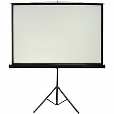 "100"" Tripod Floor/Free Standing Projector Screen 4:3 - Portable Presentations"
