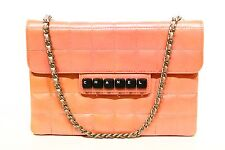 CHANEL PATENT LEATHER CLUTCH QUITED DIGITAL-SINGLE-FLAP BAG - PINK