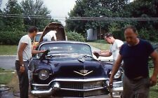 35mm Slide Cadillac Eldorado 1956 Car Men Washing 1961 Kodachrome