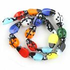 1String Retail Mixed Colorful Charms Ladybird Loose Glass Spacer Beads Free P&P