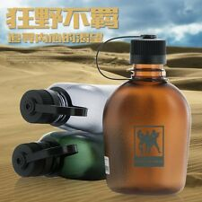500ML Light Brown Soldiers Army Military Water Bottle Canteen Tritan Leak Proof