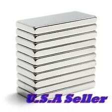 10pcs N52 20mm x 10mm x 2mm Strong Block Cube Rare Earth Neodymium Magnets