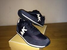 $135 MICHAEL KORS  Dark Navy Blue STANTON Trainer Fashion Sneakers size 7,5/37,5