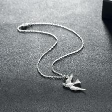 Swallow Bird Sterling Silver Plated Jewelry Chain Necklace Pendant Women Gift