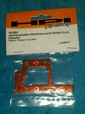 HPI 101801 Orange Aluminum Center Gearbox Mounting Plate: 1/8 Trophy Truggy Flux