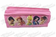 Disney Tinkerbell Zippered Pencil Pouch Teen Girls Pencil Pen Case - Pink