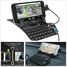 Universal Car Dashboard Mount Stand USB Charger Cradle Non-Slip Pad Phone Holder