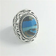 Vintage Woman 316L Stainless Steel Vogue Design Mini Stone Ring Size 9  NEW E8