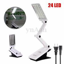 Foldable Adjustable Clamp Clip On 24 LED Reading Table Desk Lamp Bedside Light