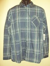 NEW VOLCOM SURF MEN WHY FACTOR PLAID LONG SLEEVE SHIRT SIZE MEDIUM
