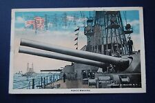 Peace Maker Battleship 1918  WW1 Postcard Used Muller