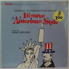 DIVORCE AMERICAN STYLE OST  Original Vinyl LP Stereo SEALED  Dave Grusin UAS5163