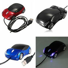 3D óptico Coche USB Ratón Cable Car Wired Mouse PC Ordenador Portátil Laptop MAC