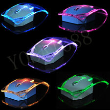 Gaming Mice 2.4G Wireless Laptop Mouse Silent Gamer Transparent LED Ultra-thin