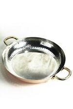 Poêle en cuivre 28 cm avec poignées intérieur étamé ❀ CopperGarden poêle à frire