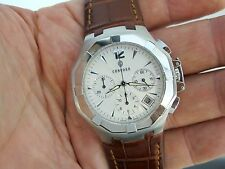 NICE GENUINE CONCORD SARATOGA CHRONOGRAPH MEN'S STAINLESS STEEL WRIST WATCH