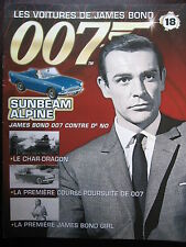 FASCICULE 18 JAMES BOND POSTER SUNBEAM ALPINE  007 CONTRE DR NO