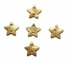 AAA 50 Pcs Star Charm 24k Gold Plated Golden Stamp Finish Charm 13mm Bead