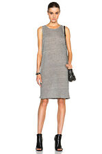 FRAME DENIM New Women's Le Drape Sexy Cute Gray Striped Tank Dress M $140