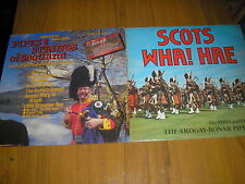 LOT OF 2 MILITARY BAND LP'S-ARDGAY-BONAR PIPE BAND & PIPES & STRINGS OF SCOTLAND