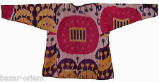 antik Nomaden Ikat Kinder kleid Usbekistan Antique child silk dress afghan No:16