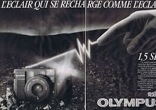 PUBLICITE ADVERTISING 045 1984 OLYMPUS appareil photo AFL35 le compact (2 pages)