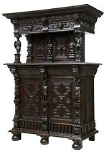 19TH CENTURY CARVED FLEMISH OAK COURT CUPBOARD BUFFET