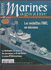 MARINES  N° 47 VEDETTES FNFL / DESTROYERS AN 60 / 40 mm BOFORS / L ENTRECASTEAUX