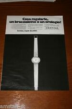 AR5=1972=CERTINA LORENZ OROLOGIO WATCH=PUBBLICITA'=ADVERTISING=WERBUNG=