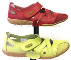 LADIES LIFESTYLE BY CUSHION WALK SHOES JULIET RED & GREEN LEATHER