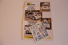 DECALS 1/43 PEUGEOT 206 WRC MOREL RALLYE D'ESPAGNE DE CATALOGNE 2000 RALLY