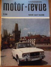 Tschechoslowakische MOTOR REVUE Nr. 5 - 1980 Eisspeedway-WM Bondarenko Skoda 125