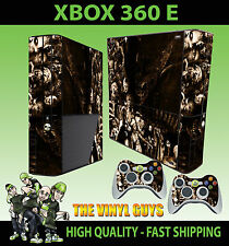 XBOX 360 E SUPER SLIM HORROR COLLAGE SEPIA VILLAINS STICKER SKIN & 2 PAD SKIN