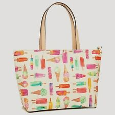 Kate Spade PXRU6563 Flavor of the Month Ice Cream Francis Tote Bag MultiClr NWT