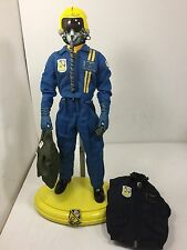 1/6 DRAGON US NAVY BLUE ANGELS F-18 HORNET MODERN FIGHTER PILOT+ STAND BBI DID