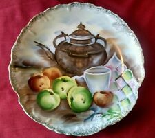 """Vintage Ucago 8 1/4"""" Hand painted Fruit Collector Plate Japan Collectible"""