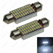 Pair 39mm 30LED 3014 SMD Car Festoon Interior Roof Dome Light Bulbs Xenon White