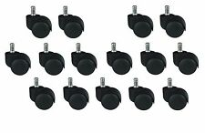 15X  Hi Quality WHEEL CASTER REPLACEMENT SWIVEL SET FOR WOOD FLOOR &OFFICE CHAIR