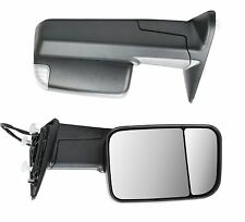 Power Heated Towing Mirrors Signal Puddle Lights Pair for 09-15 Ram 1500 Pickup