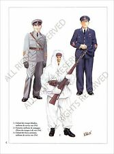 PLANCHE UNIFORMS PRINT WWII RUSSIA Soviet Armed Forces Armée rouge Red Army USSR