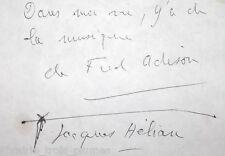 ✒ P.A.S. Jacques HELIAN chef orchestre Music-Hall  petit mot signé