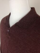 VINTAGE GUESS USA MENS sz XL PULLOVER POLO SHIRT WOOL BLEND LONG SLEEVE VENTED
