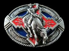 Rodeo Cowboy Native Horse Bull Rider Western Belt Buckle Boucle de Ceinture