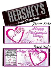12 Valentine's Day Party Candy Bar Hershey Wrappers Love School Gift Friends