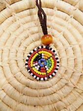 African Maasai SMALL Beaded Pendant Necklace Masai Massai ethnic tribal jnmp30